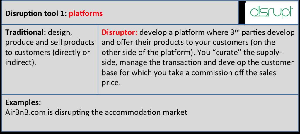 Disrupt tool 1 platforms