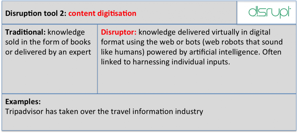 Disrupt tool 2 digitisation