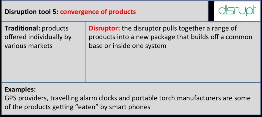 Disrupt tool 5 convergence