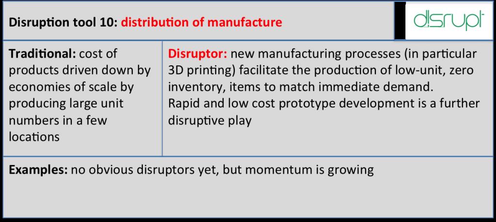 Disrupt tool 10 manufacture